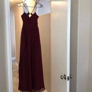 Azazie Cora Bridesmaids Dress in Cabernet
